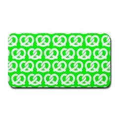 Neon Green Pretzel Illustrations Pattern Medium Bar Mats