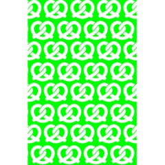 Neon Green Pretzel Illustrations Pattern 5 5  X 8 5  Notebooks