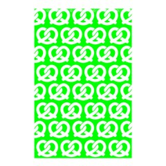 Neon Green Pretzel Illustrations Pattern Shower Curtain 48  X 72  (small)