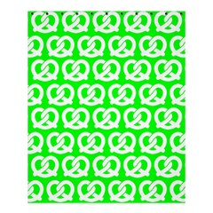 Neon Green Pretzel Illustrations Pattern Shower Curtain 60  x 72  (Medium)