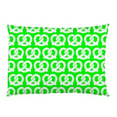 Neon Green Pretzel Illustrations Pattern Pillow Cases (Two Sides)