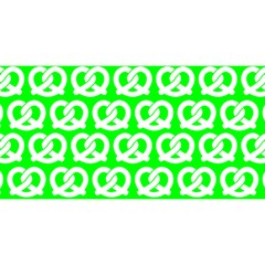 Neon Green Pretzel Illustrations Pattern YOU ARE INVITED 3D Greeting Card (8x4)