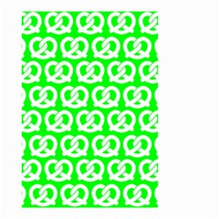 Neon Green Pretzel Illustrations Pattern Small Garden Flag (Two Sides)