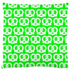Neon Green Pretzel Illustrations Pattern Large Cushion Cases (One Side)