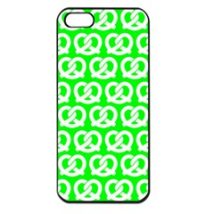 Neon Green Pretzel Illustrations Pattern Apple iPhone 5 Seamless Case (Black)