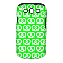 Neon Green Pretzel Illustrations Pattern Samsung Galaxy S III Classic Hardshell Case (PC+Silicone)