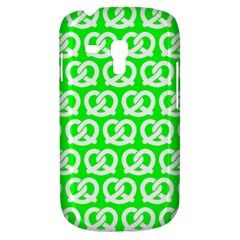 Neon Green Pretzel Illustrations Pattern Samsung Galaxy S3 MINI I8190 Hardshell Case