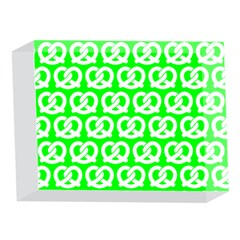 Neon Green Pretzel Illustrations Pattern 5 x 7  Acrylic Photo Blocks