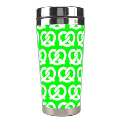 Neon Green Pretzel Illustrations Pattern Stainless Steel Travel Tumblers