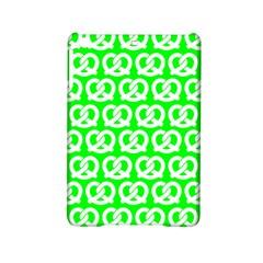Neon Green Pretzel Illustrations Pattern iPad Mini 2 Hardshell Cases