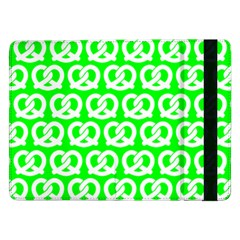 Neon Green Pretzel Illustrations Pattern Samsung Galaxy Tab Pro 12 2  Flip Case