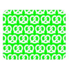 Neon Green Pretzel Illustrations Pattern Double Sided Flano Blanket (Large)