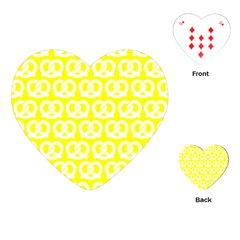 Yellow Pretzel Illustrations Pattern Playing Cards (Heart)