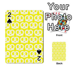 Yellow Pretzel Illustrations Pattern Playing Cards 54 Designs