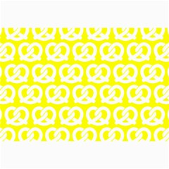Yellow Pretzel Illustrations Pattern Collage 12  X 18