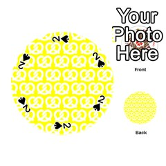 Yellow Pretzel Illustrations Pattern Playing Cards 54 (Round)