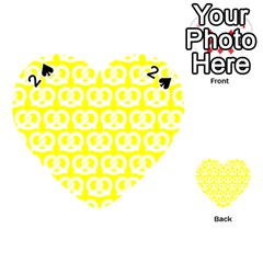 Yellow Pretzel Illustrations Pattern Playing Cards 54 (heart)