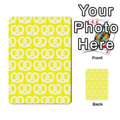Yellow Pretzel Illustrations Pattern Multi-purpose Cards (Rectangle)