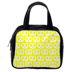 Yellow Pretzel Illustrations Pattern Classic Handbags (One Side)
