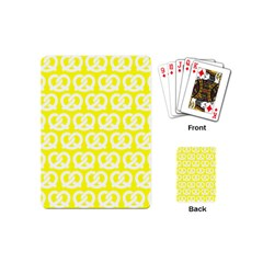 Yellow Pretzel Illustrations Pattern Playing Cards (Mini)