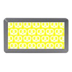 Yellow Pretzel Illustrations Pattern Memory Card Reader (Mini)
