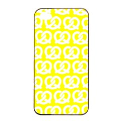 Yellow Pretzel Illustrations Pattern Apple iPhone 4/4s Seamless Case (Black)