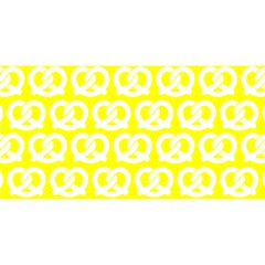 Yellow Pretzel Illustrations Pattern YOU ARE INVITED 3D Greeting Card (8x4)