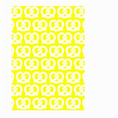 Yellow Pretzel Illustrations Pattern Large Garden Flag (Two Sides)
