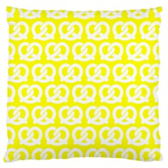 Yellow Pretzel Illustrations Pattern Large Cushion Cases (Two Sides)