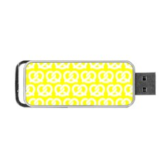 Yellow Pretzel Illustrations Pattern Portable Usb Flash (one Side)