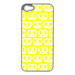 Yellow Pretzel Illustrations Pattern Apple iPhone 5 Case (Silver)