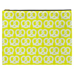 Yellow Pretzel Illustrations Pattern Cosmetic Bag (XXXL)