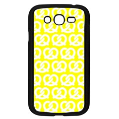 Yellow Pretzel Illustrations Pattern Samsung Galaxy Grand DUOS I9082 Case (Black)