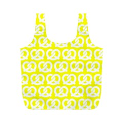 Yellow Pretzel Illustrations Pattern Full Print Recycle Bags (M)