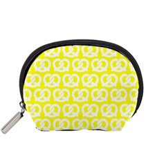 Yellow Pretzel Illustrations Pattern Accessory Pouches (Small)