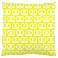 Yellow Pretzel Illustrations Pattern Standard Flano Cushion Cases (One Side)