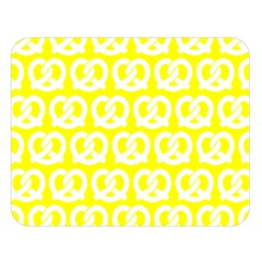Yellow Pretzel Illustrations Pattern Double Sided Flano Blanket (Large)