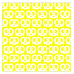 Yellow Pretzel Illustrations Pattern Large Satin Scarf (Square)