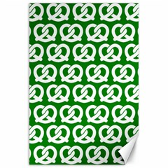 Green Pretzel Illustrations Pattern Canvas 20  x 30