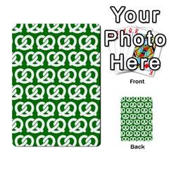 Green Pretzel Illustrations Pattern Multi-purpose Cards (Rectangle)