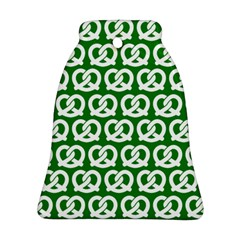 Green Pretzel Illustrations Pattern Bell Ornament (2 Sides)