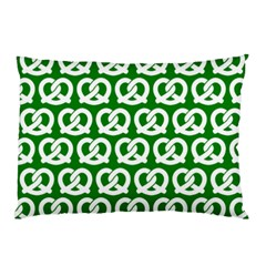 Green Pretzel Illustrations Pattern Pillow Cases (Two Sides)