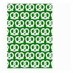 Green Pretzel Illustrations Pattern Large Garden Flag (Two Sides)