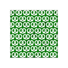 Green Pretzel Illustrations Pattern Acrylic Tangram Puzzle (4  X 4 )