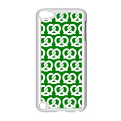 Green Pretzel Illustrations Pattern Apple iPod Touch 5 Case (White)