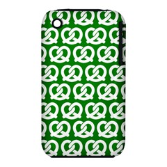 Green Pretzel Illustrations Pattern Apple iPhone 3G/3GS Hardshell Case (PC+Silicone)