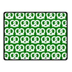 Green Pretzel Illustrations Pattern Double Sided Fleece Blanket (Small)