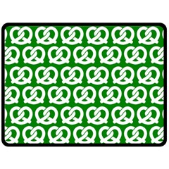 Green Pretzel Illustrations Pattern Double Sided Fleece Blanket (large)