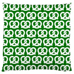 Green Pretzel Illustrations Pattern Standard Flano Cushion Cases (One Side)