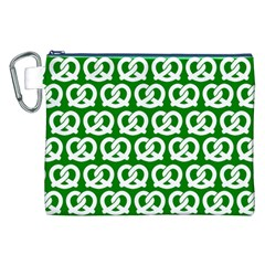Green Pretzel Illustrations Pattern Canvas Cosmetic Bag (XXL)